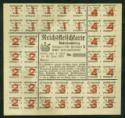 food ration card from Stuttgart after WW I - for meat